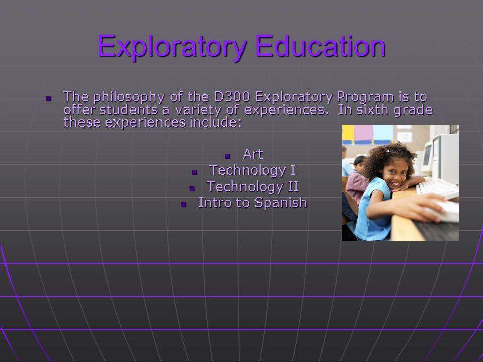 Exploratory Education