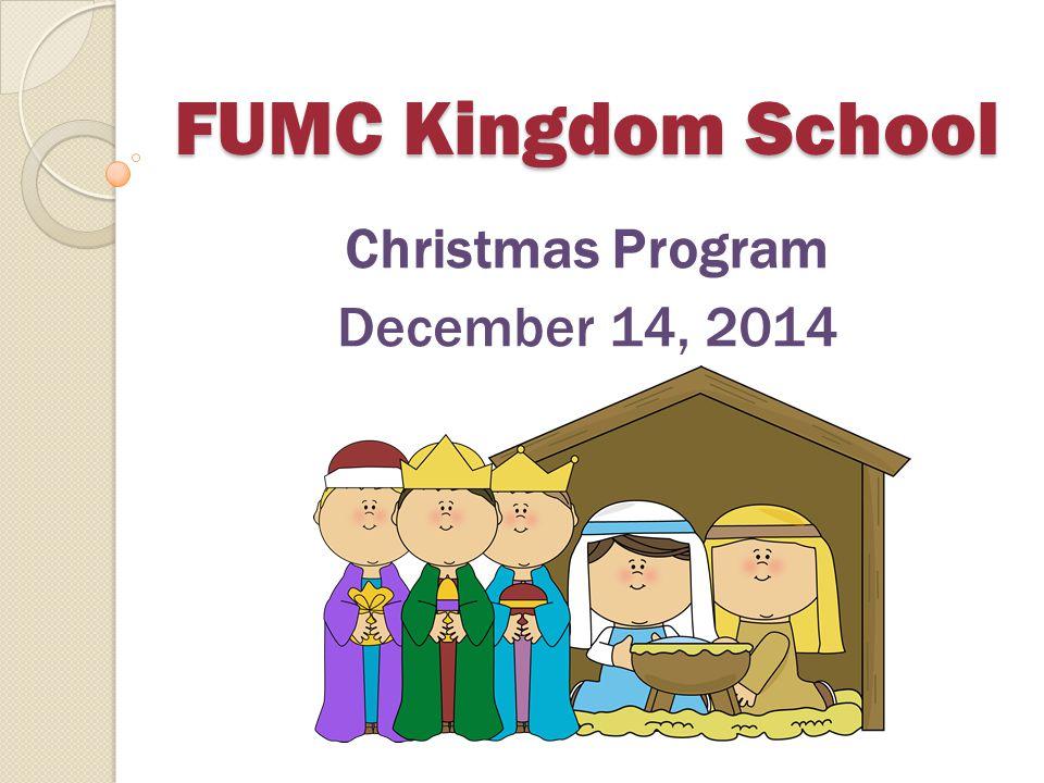 Christmas Program December 14, 2014