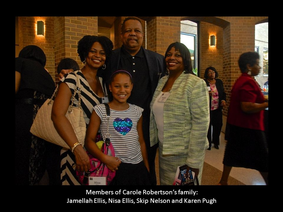 Members of Carole Robertson's family: