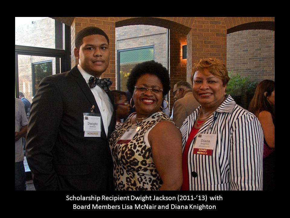 Scholarship Recipient Dwight Jackson (2011-'13) with