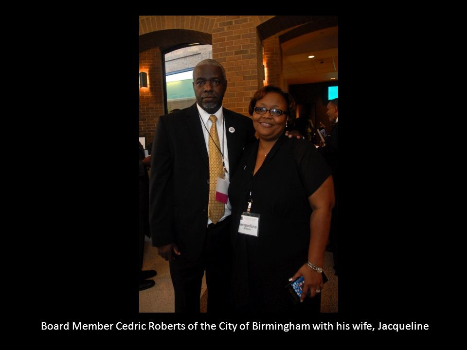 Board Member Cedric Roberts of the City of Birmingham with his wife, Jacqueline