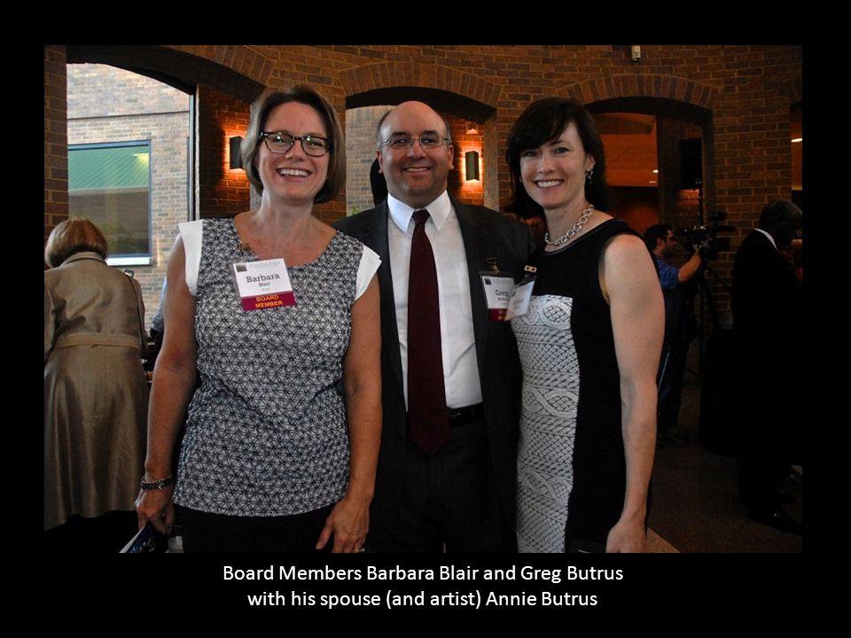 Board Members Barbara Blair and Greg Butrus