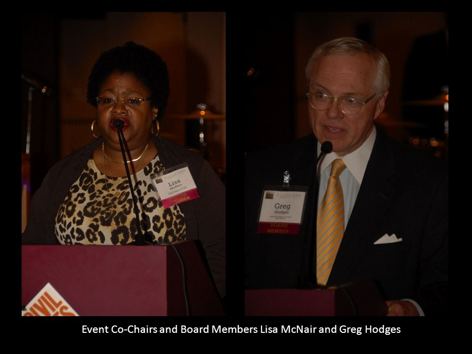 Event Co-Chairs and Board Members Lisa McNair and Greg Hodges