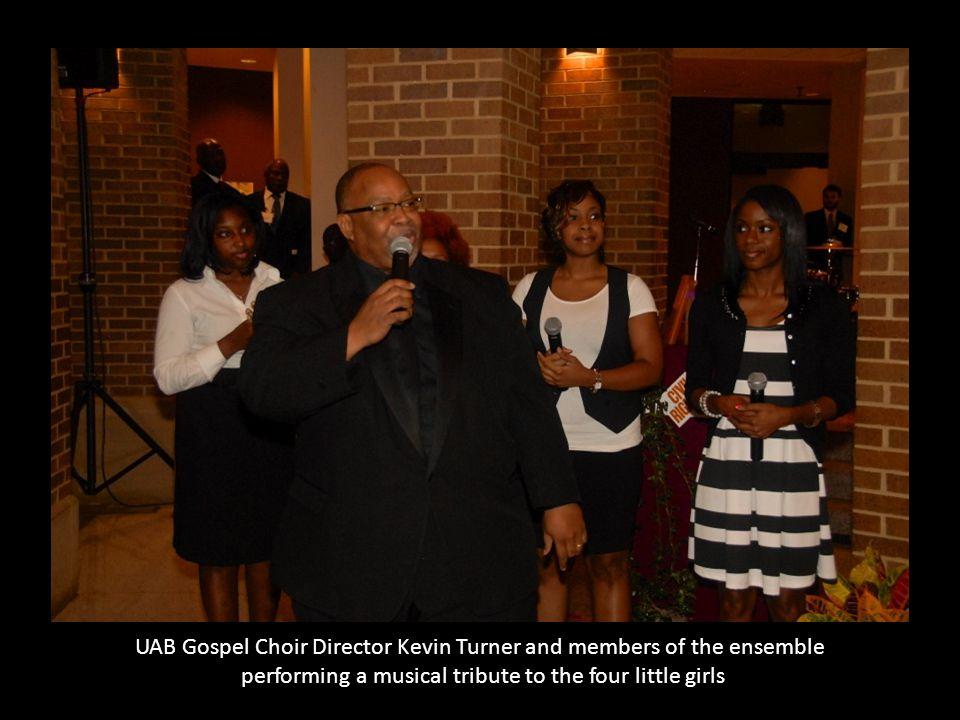 UAB Gospel Choir Director Kevin Turner and members of the ensemble