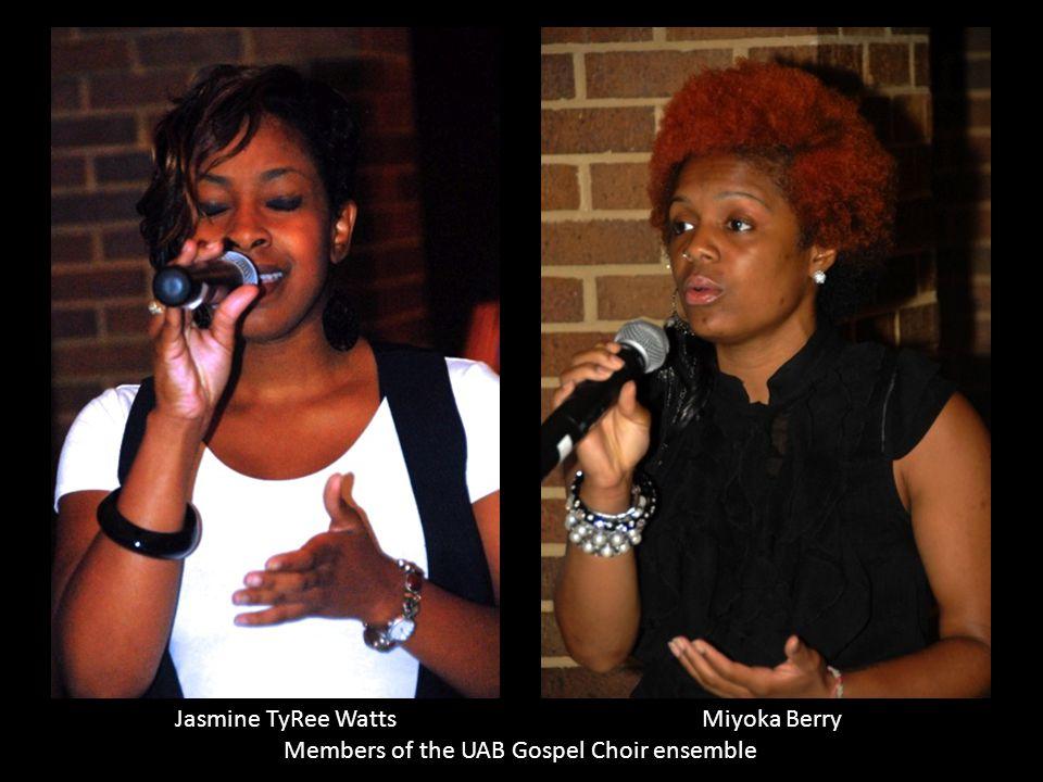 Members of the UAB Gospel Choir ensemble