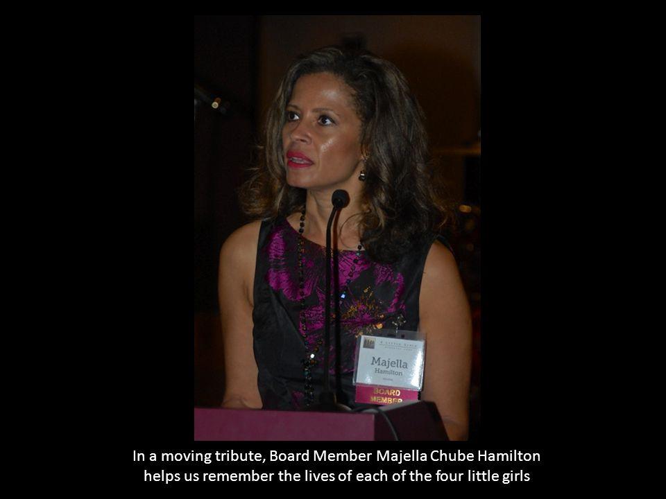 In a moving tribute, Board Member Majella Chube Hamilton