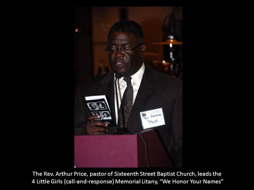 The Rev. Arthur Price, pastor of Sixteenth Street Baptist Church, leads the