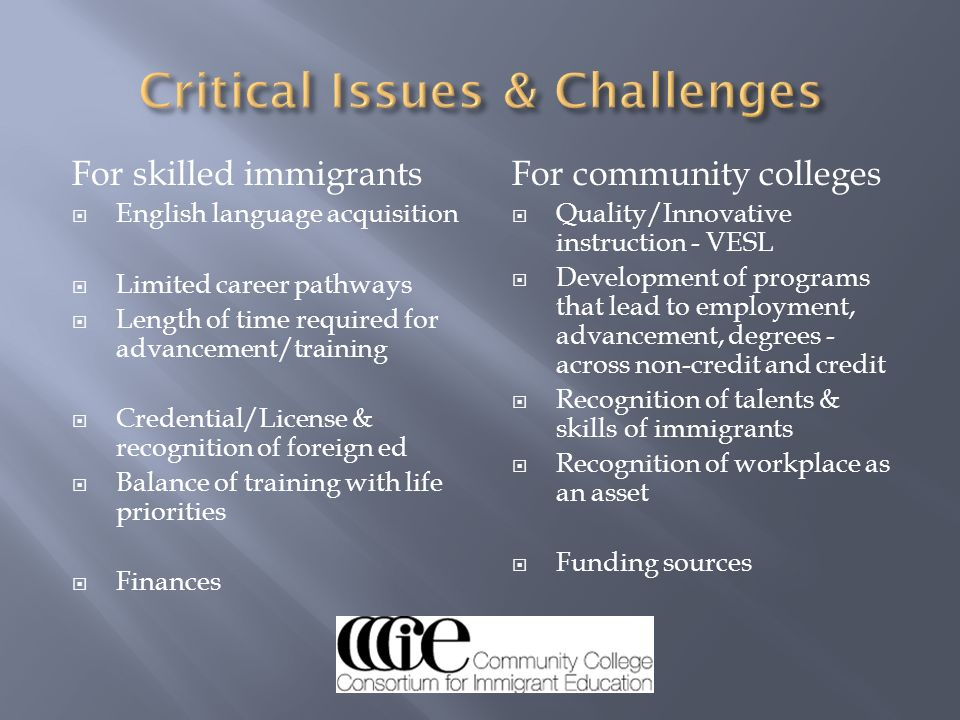 Critical Issues & Challenges