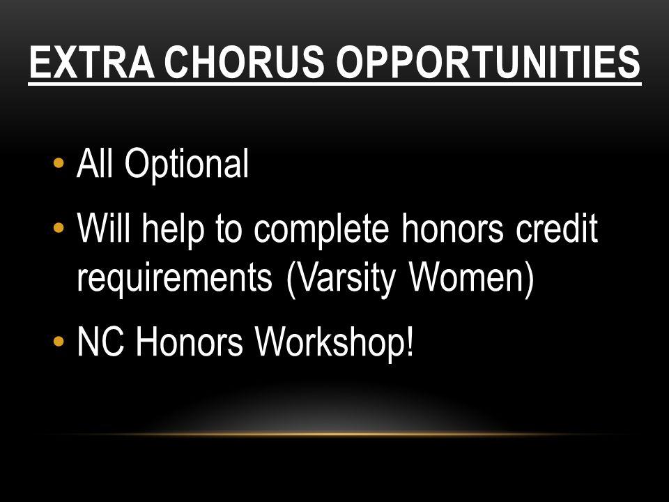 Extra Chorus Opportunities