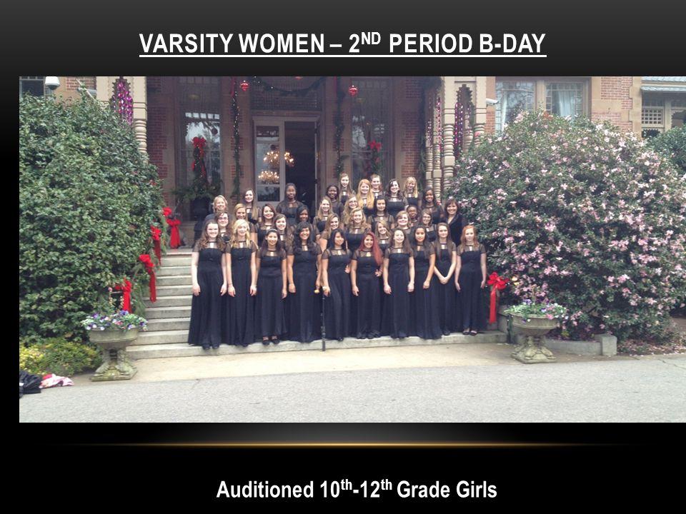 Varsity Women – 2nd period B-day