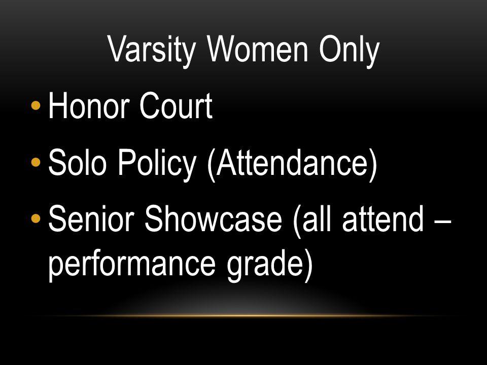 Varsity Women Only Honor Court.