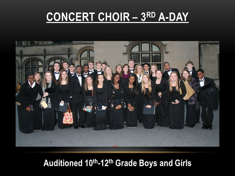 Concert Choir – 3rd A-day