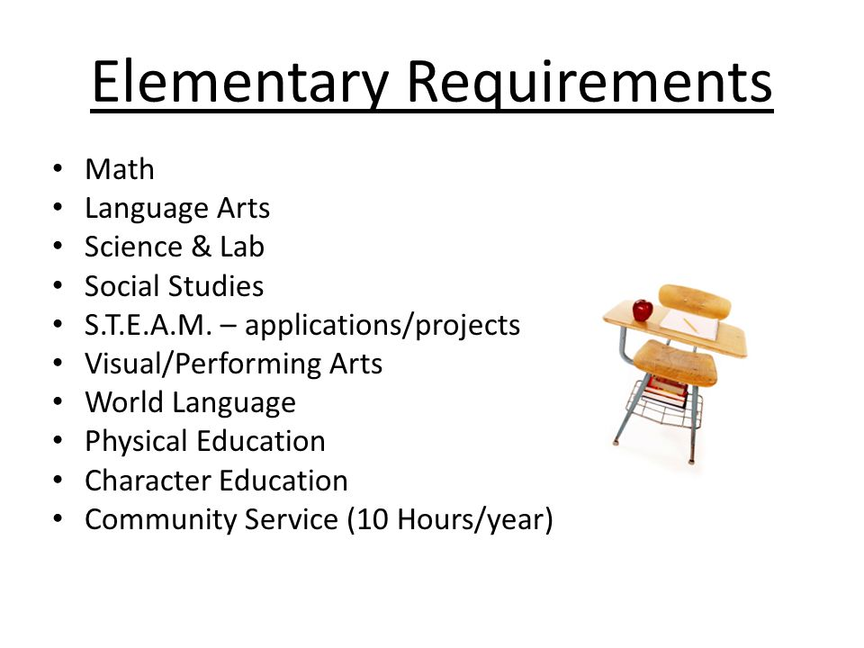 Elementary Requirements