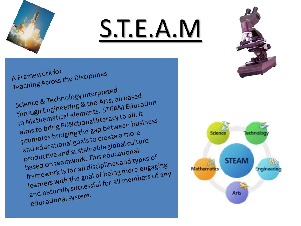 S.T.E.A.M A Framework for Teaching Across the Disciplines