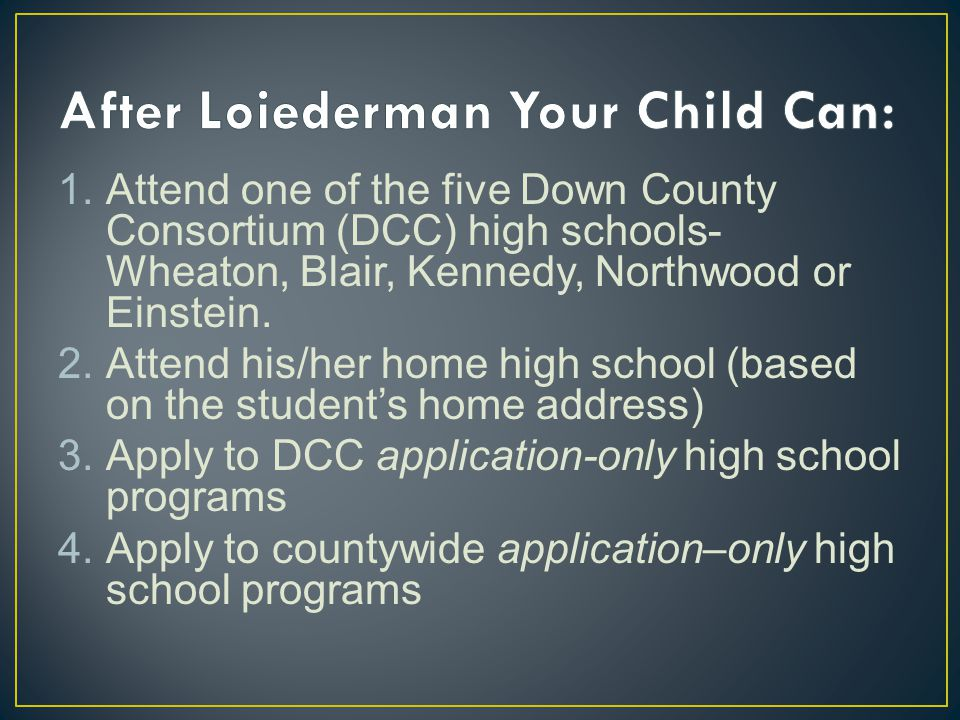 After Loiederman Your Child Can: