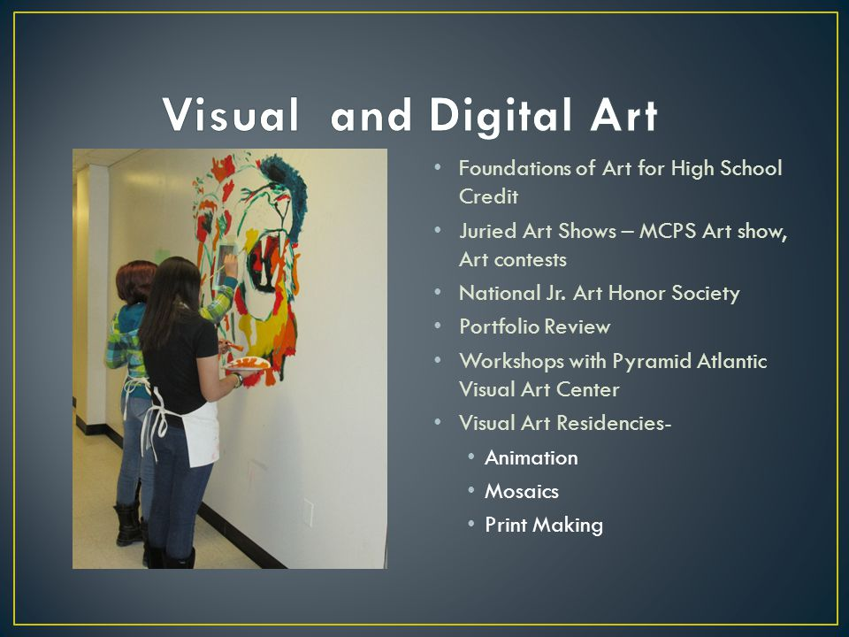 Visual and Digital Art Foundations of Art for High School Credit