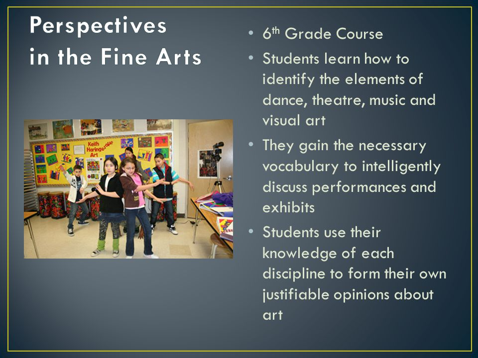 Perspectives in the Fine Arts
