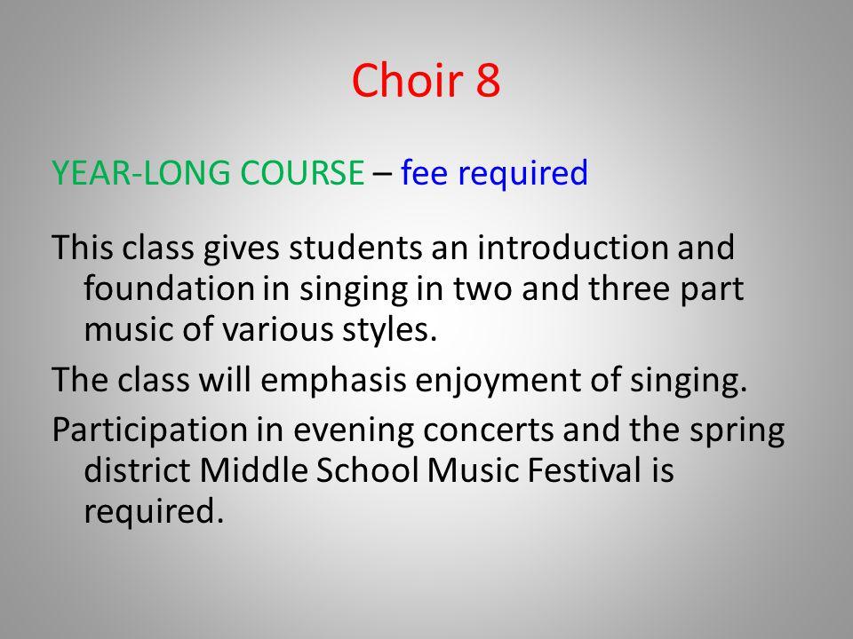 Choir 8