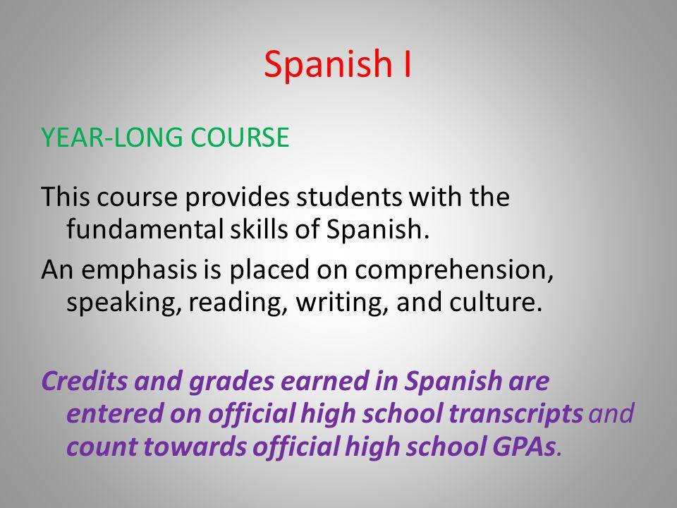 Spanish I