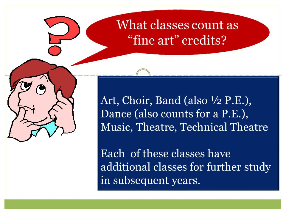 What classes count as fine art credits