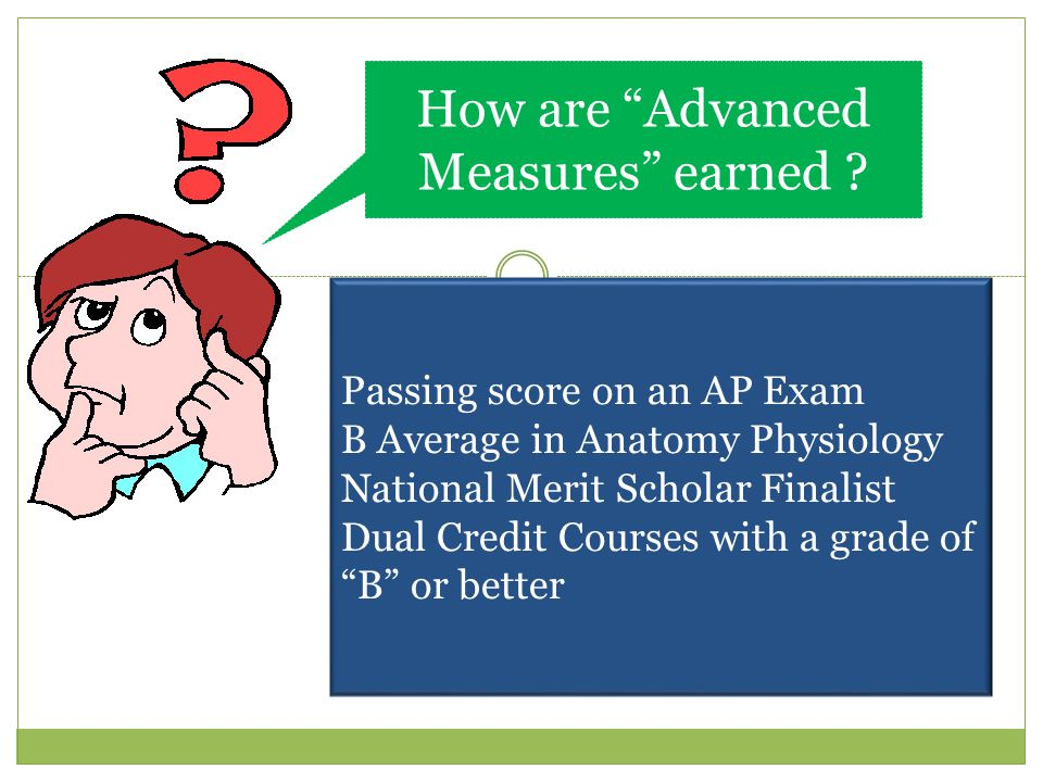 How are Advanced Measures earned