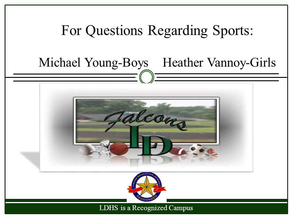 For Questions Regarding Sports: