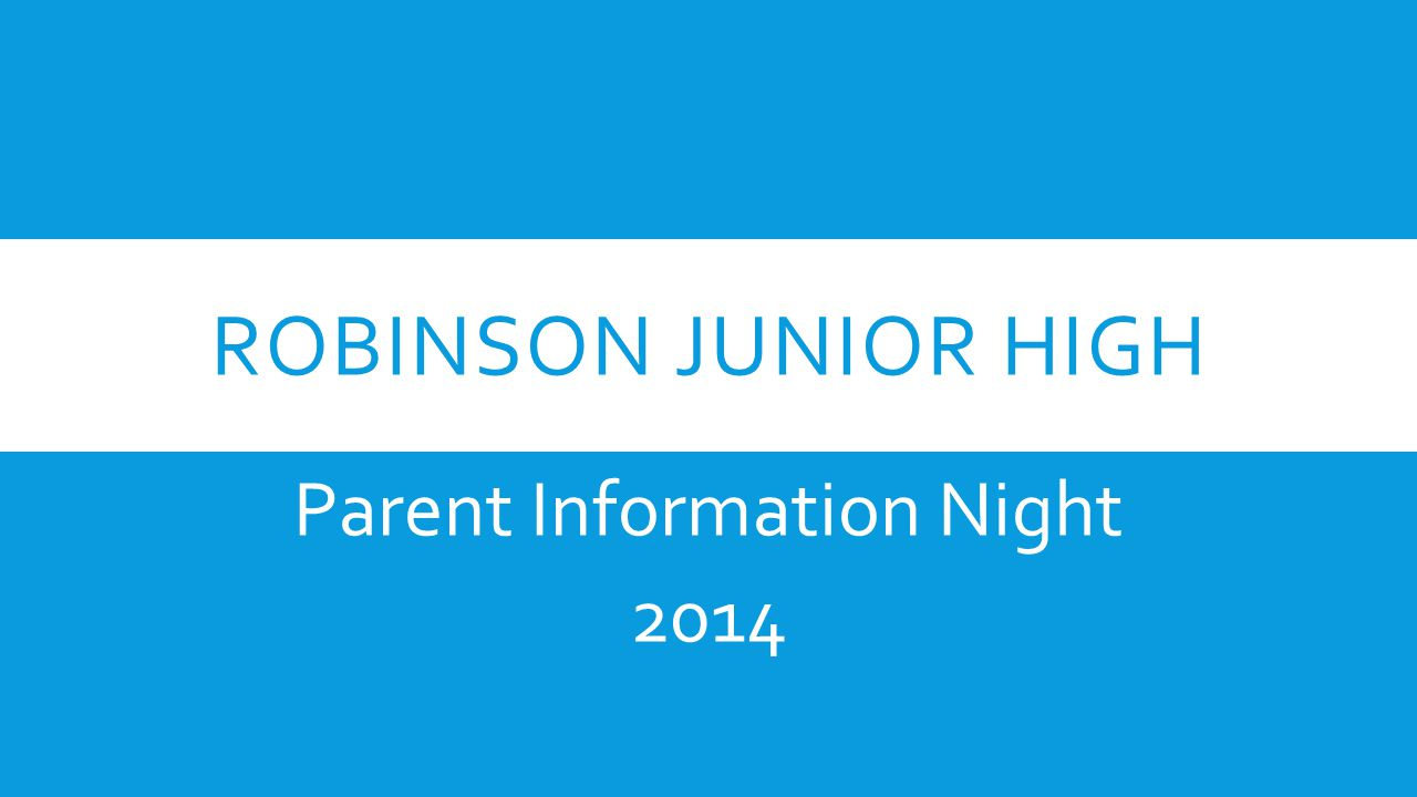 Parent Information Night 2014