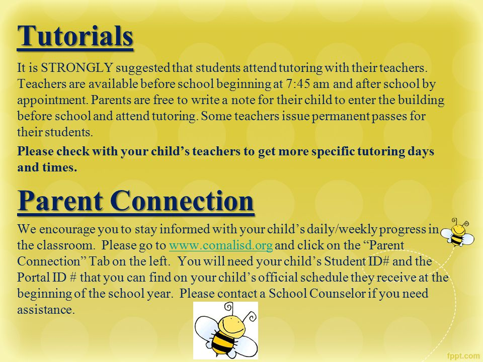 Tutorials Parent Connection
