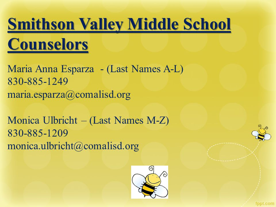 Smithson Valley Middle School Counselors