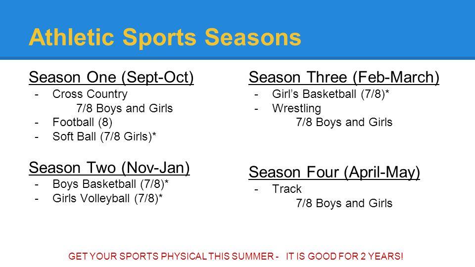 Athletic Sports Seasons