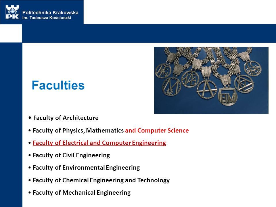 Faculties Faculty of Architecture