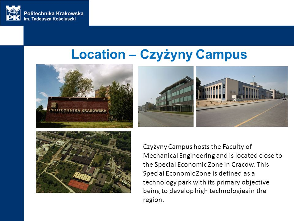 Location – Czyżyny Campus