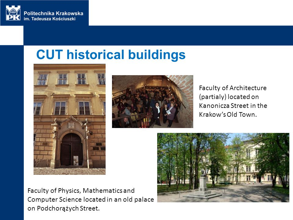 CUT historical buildings
