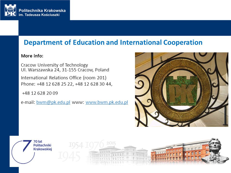 Department of Education and International Cooperation