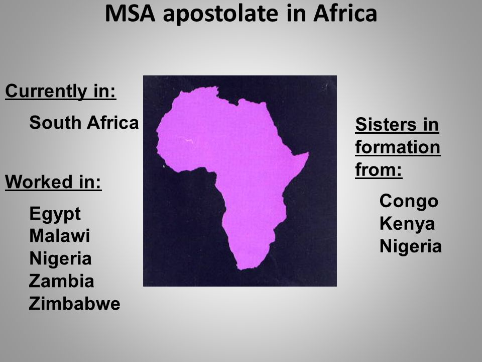 MSA apostolate in Africa
