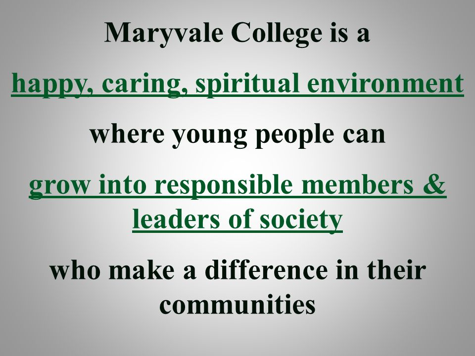 happy, caring, spiritual environment where young people can