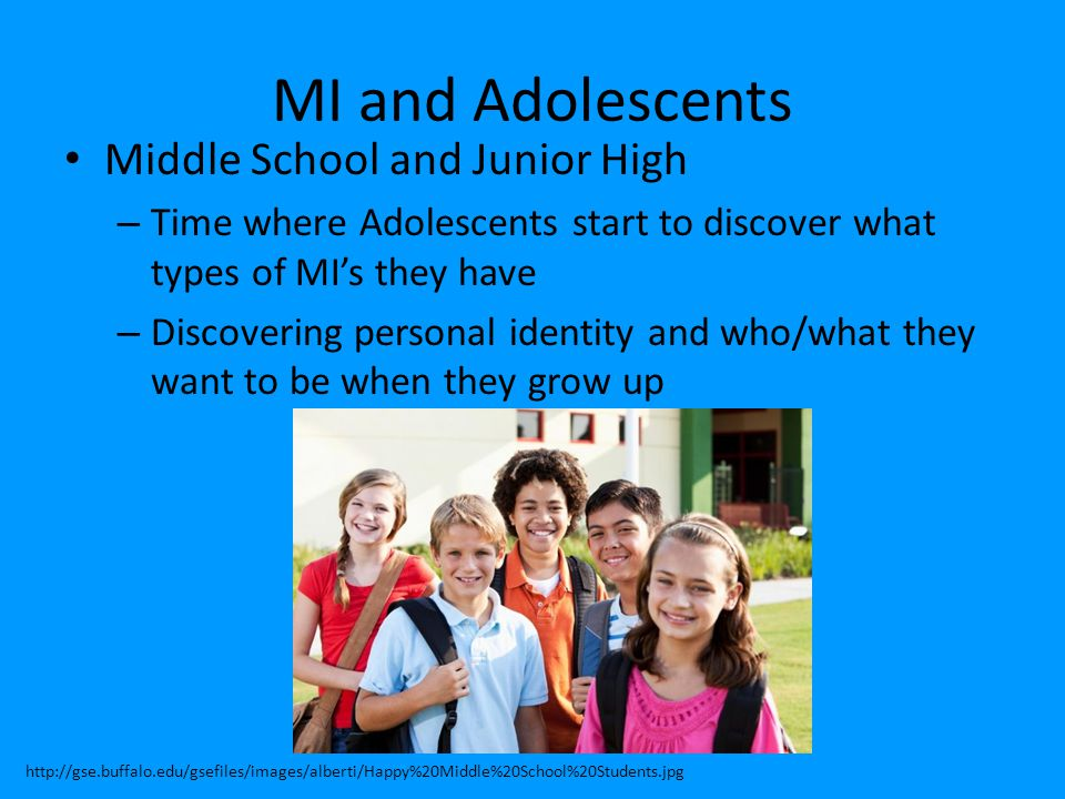MI and Adolescents Middle School and Junior High
