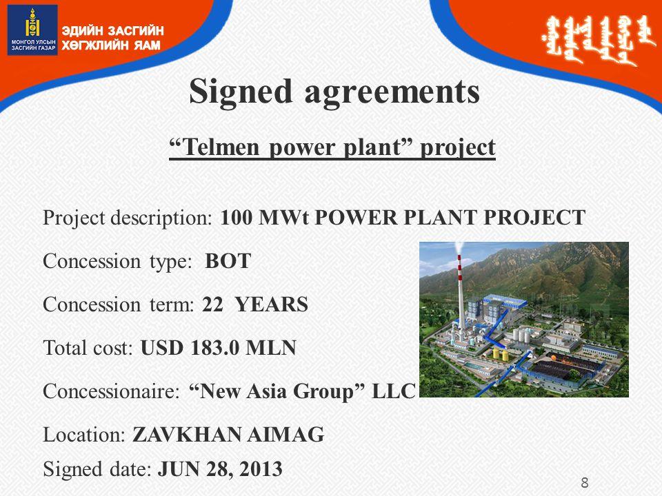 Telmen power plant project