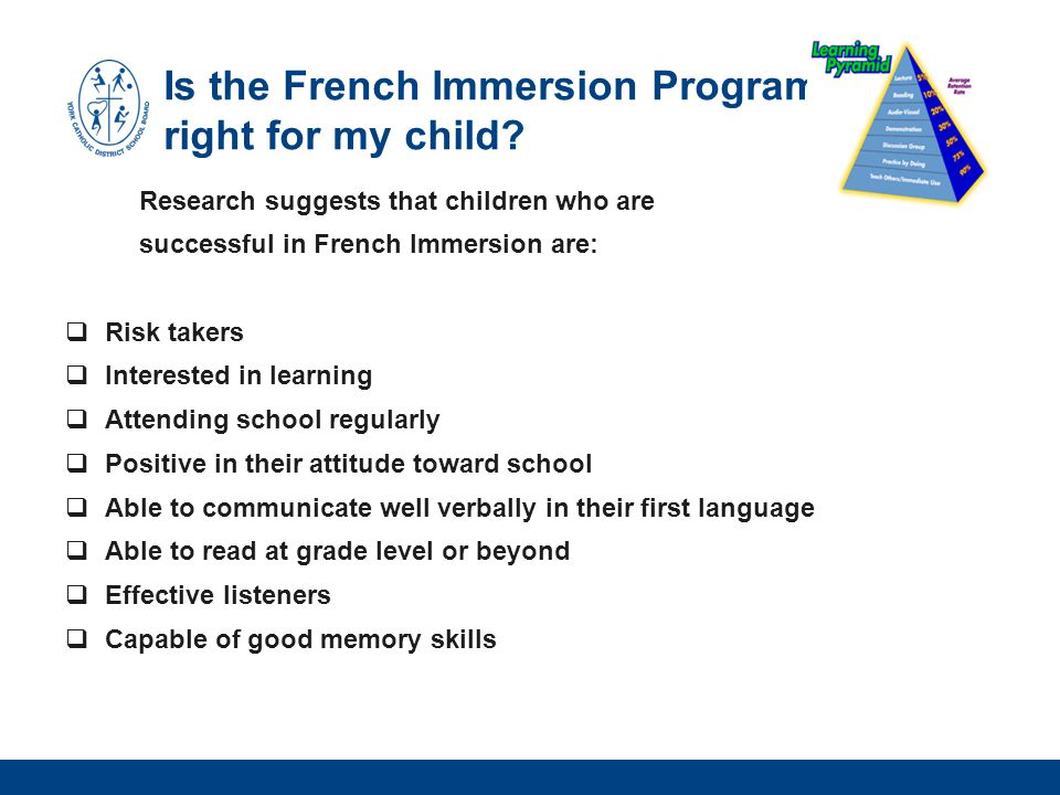 Is the French Immersion Program right for my child