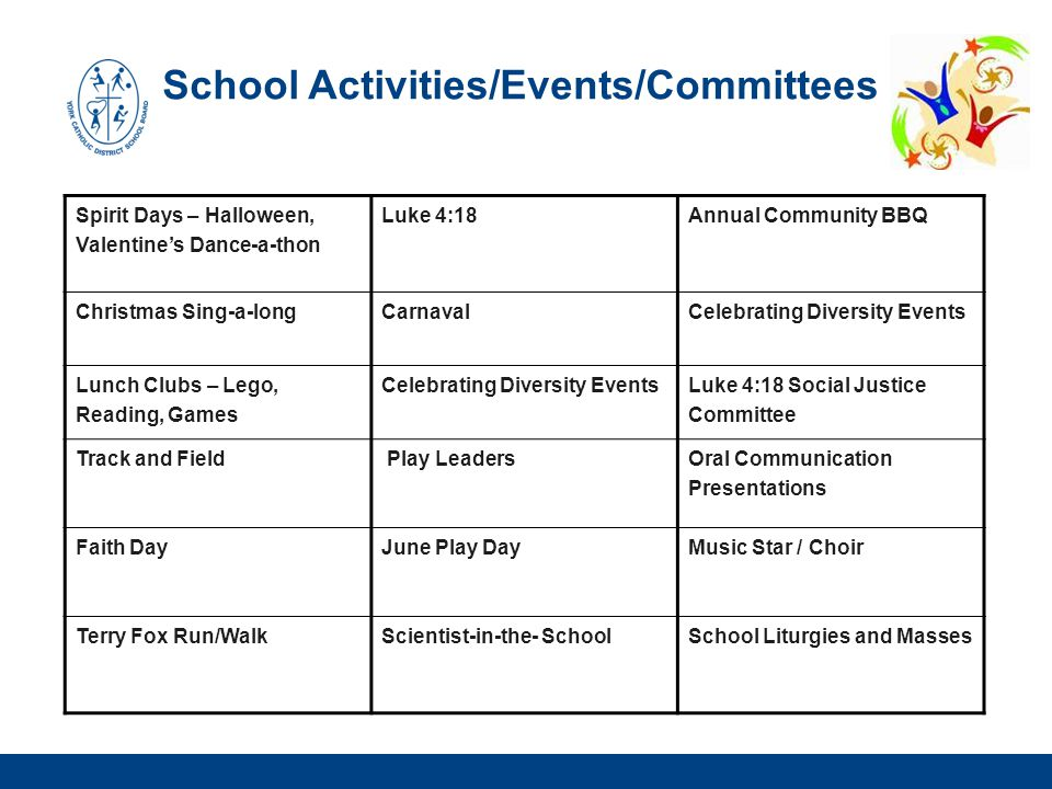 School Activities/Events/Committees