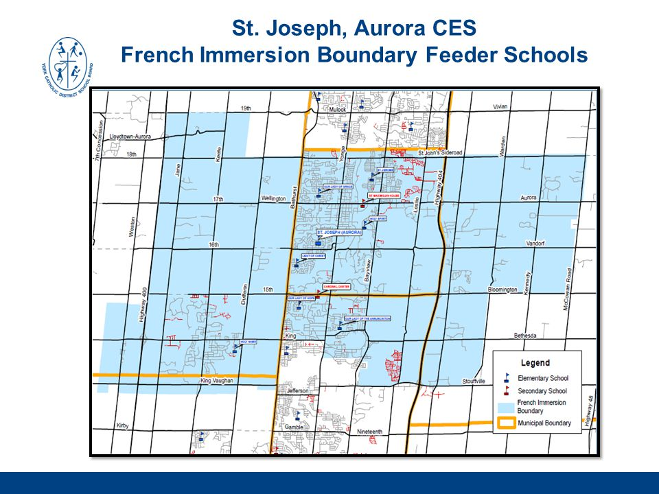 St. Joseph, Aurora CES French Immersion Boundary Feeder Schools