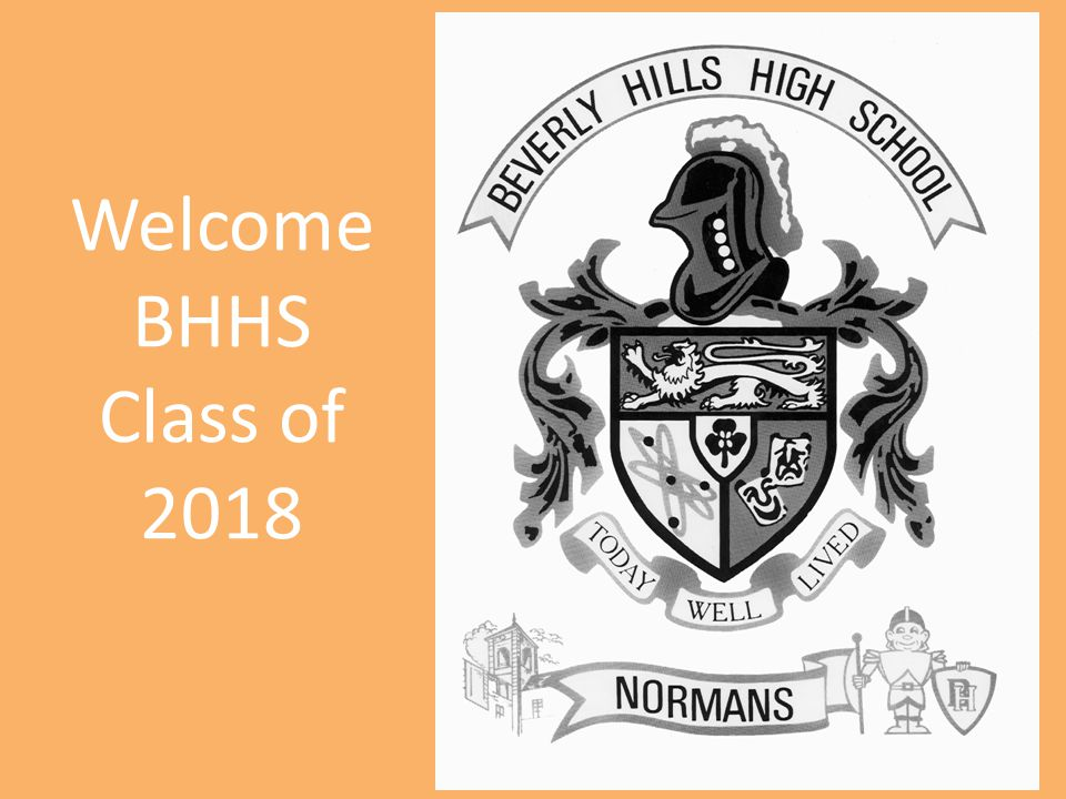 Welcome BHHS Class of 2018