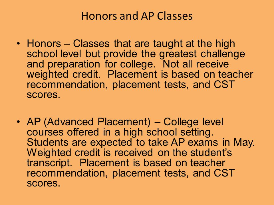 Honors and AP Classes