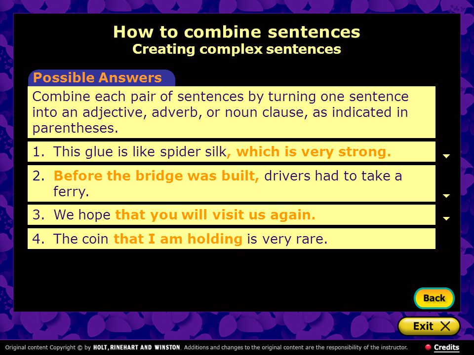 combining sentences exercises with answers pdf