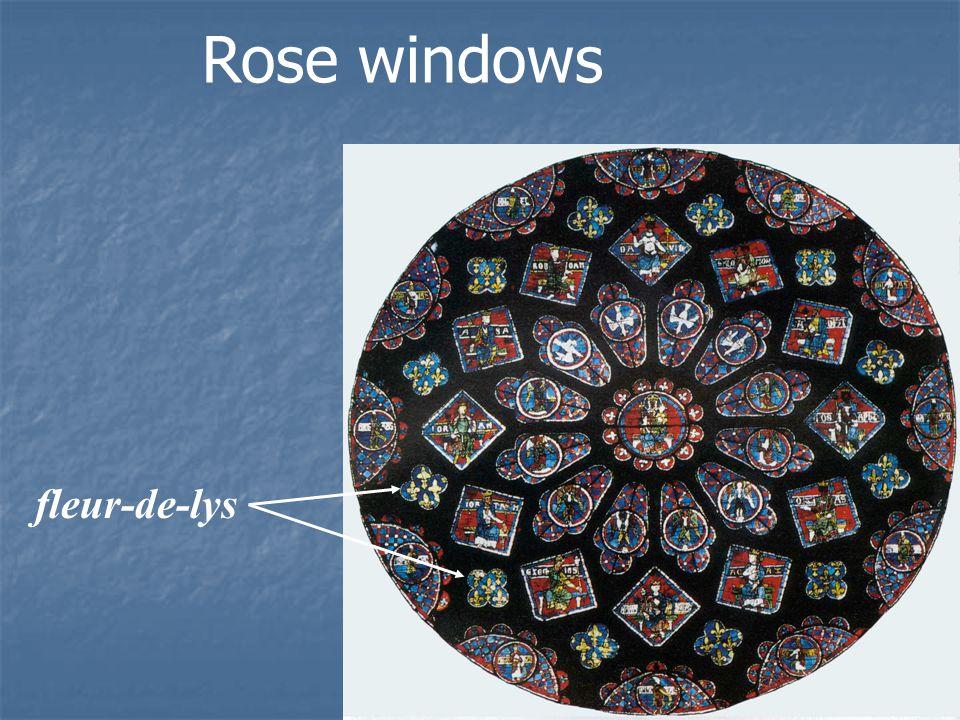 Rose windows fleur-de-lys
