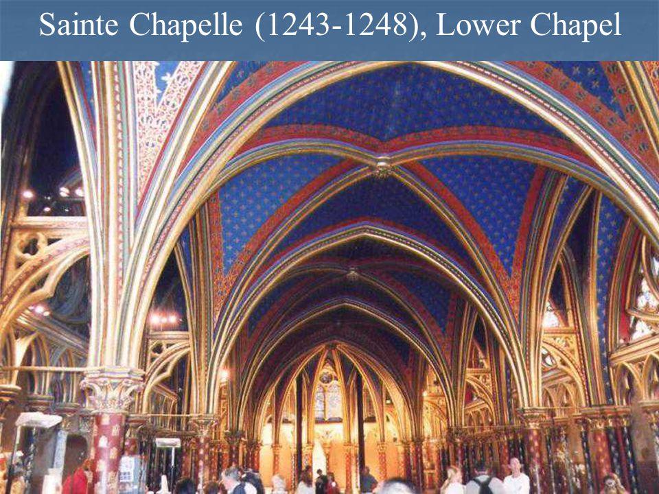 Sainte Chapelle (1243-1248), Lower Chapel