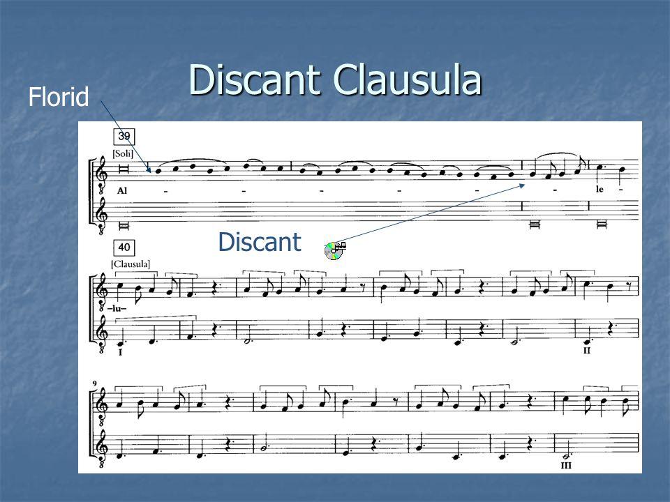 Discant Clausula Florid Discant