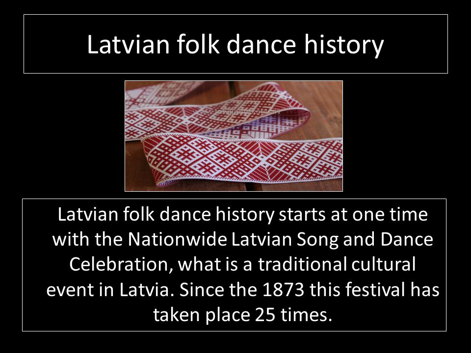 Latvian folk dance history