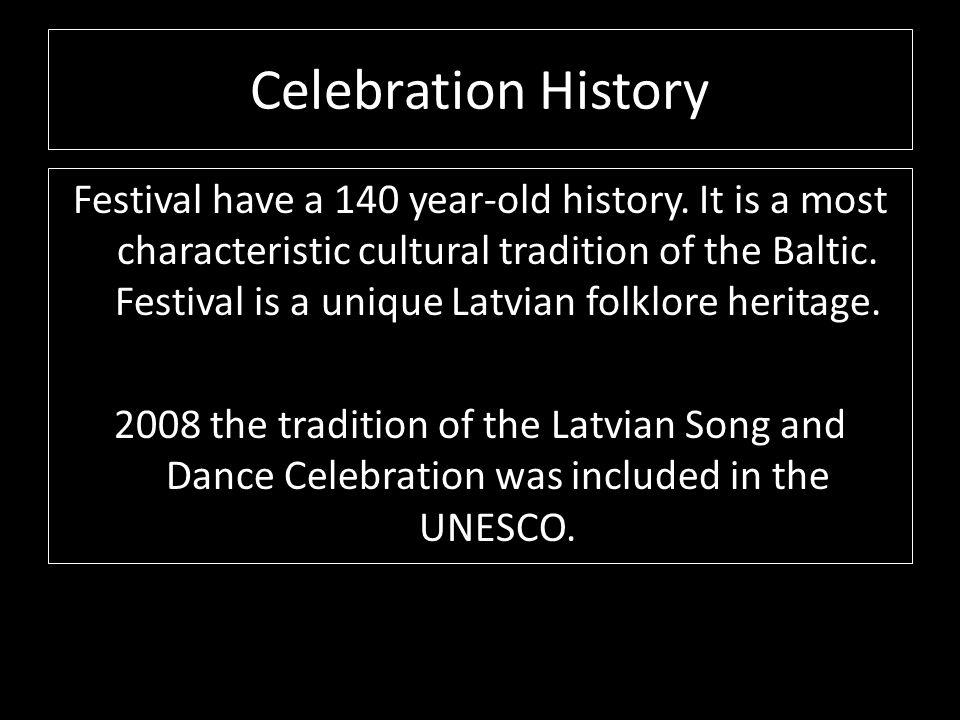 Celebration History