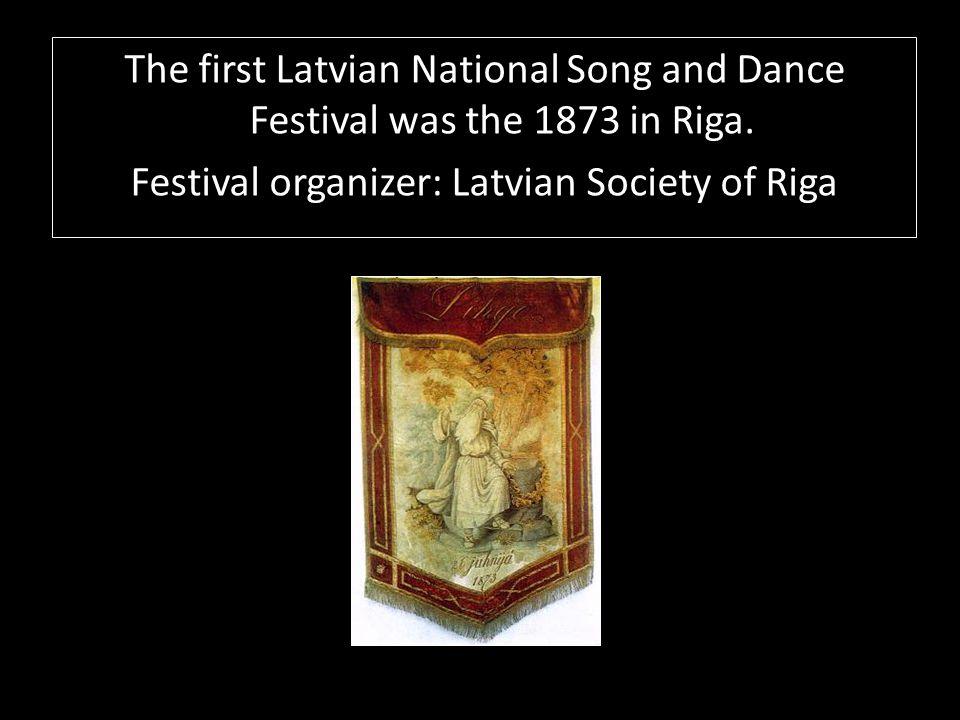 The Latvian Song Festival flag